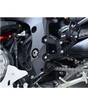 R&G RACING black adjustable rearsets Yamaha R1/R1M