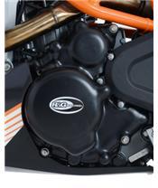 Couvre carter R&G RACING gauche noir KTM 390 Duke