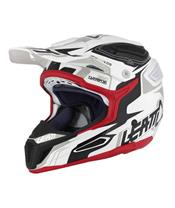 Casque LEATT GPX 5.5 Composite blanc/noir/rouge