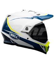 Casco Bell MX-9 Adventure Mips Torch Blanco/Azul/Amarillo Talla S