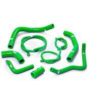 Kit tubos radiador Samco Kawasaki verde KAW-57-GN