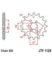 Piñon JT 1129 de acero con 14 dientes