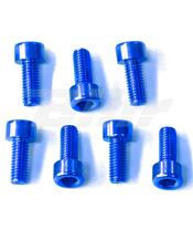 Kit parafusaria tampa reservatório Pro-Bolt Kawasaki Alumínio azul TKAWB