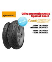 2 Sport-Touring Tire Pack CONTINENTAL ContiMotion (120/70 ZR 17 + 190/50 ZR 17)