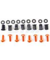 Kit parafusaria viseira alumínio Pro-Bolt laranja SK020O