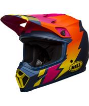 BELL MX-9 Mips Helmet Strike Matte Blue/Orange/Pink
