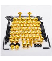 Kit parafusaria de carenagem Pro-Bolt ZX10R (06-07) alumínio ouro FKA286G