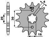 Pignon PBR 16 dents acier standard pas 428 type 710 Cagiva