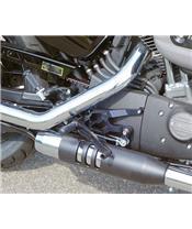 LSL Rearsets Aluminum Black Harley Davidson XL1200