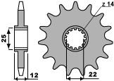 PBR Front Sprocket 13 Teeth Steel Standard 520 Pitch Type 2102 Gas Gas EC250-300 400-450