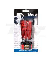 Luz traseira LED + indicador pista laser