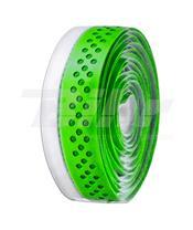 Cinta de manillar VELO PU agujereada verde/blanco