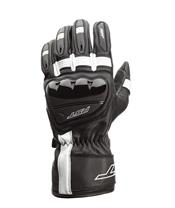 RST Pilot CE Gloves Leather Black/White Size S Men
