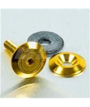 Arruela de alumínio escareada M6 ouro LWAC6-22G