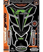Protection de réservoir MOTOGRAFIX 4pcs noir/vert Kawasaki