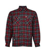 Camisa franela BELL Dixxon Rojo/Gris, Talla S