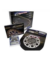 RENTHAL Chain Kit 520 type R1 13/50 (Ultralight™ Self-Cleaning Rear Sprocket) Kawasaki KX450F