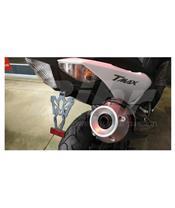 Suporte de matrícula Yamaha TMAX 530 preta