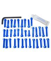 Kit tornillería aluminio motor Pro-Bolt EBM040B Azul