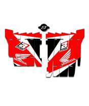Kit déco de cache radiateur BLACKBIRD Dream Graphic 3 rouge Honda CRF450RX