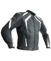 RST R-18 Jacket CE Leather White