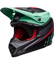 BELL Moto-9 Mips Helm Prophecy Matte Green/InfraRed /Black Größe