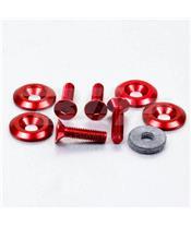 Kit parafusos/arruelas escareados Pro-Bolt (4 pack) alumínio vermelha CSKIT622625R