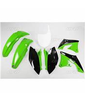 UFO Plastic Kit OEM Color Green/Black Kawasaki KX250F