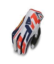 UFO Blaze Gloves White/Blue/Red Size XL