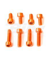 Kit parafusaria tampa reservatório Pro-Bolt alumínio TBMWO laranja