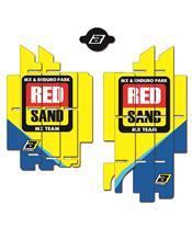 Kit déco de cache radiateur BLACKBIRD Replica Team Suzuki World MXGP 2017 Suzuki RM-Z450