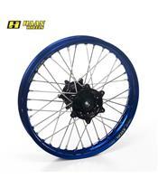 HAAN WHEELS Complete Rear Wheel 19x2,15x36T Blue Rim/Black Hub/Silver Spokes/Silver Spoke Nuts