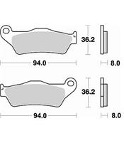 Plaquettes de frein BRAKING 746CM46 métal fritté