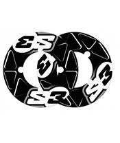 S3 Rear Sprocket Stickers 46/48 Teeth Black
