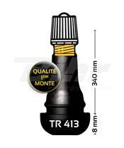 Bolsa de 100 válvulas recta de goma BIHR TR413