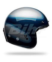 Casco Bell Custom 500 Carbon Jager Azul Candy Talla XS (Incluye bolsa de piel)
