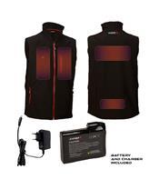 Colete aquecido CAPIT WarmMe preto tamanho 4XL/5XL