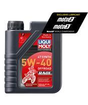 Bottiglia di 1L olio Liqui Moly 100% sintetico 4T Synth 5W-40 Off road Race 3018 Garrafa de 1L óleo Liqui Moly 100% sintético 4T Synth 5W-40 Off road Race