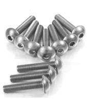 Kit parafusaria de carenagem Pro-Bolt ZX10R (08-10) alumínio prata FKA287S