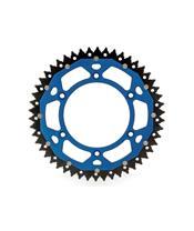 Corona doble compuesto ART, 49 dientes, paso 520, Azul