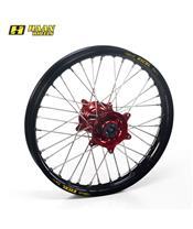 HAAN WHEELS Complete Rear Wheel 17x5,00x36T Black Rim/Red Hub/Red Spokes/Silver Spoke Nuts
