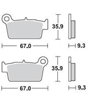BRAKING Brake Pads 890CM46 Semi-Metallic