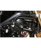 Tampons de protection R&G RACING Aero noir Triumph Street Triple/R 675