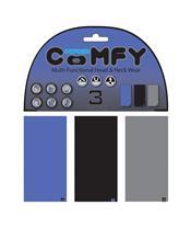 Tour de cou OXFORD Comfy bleu/noir/gris pack de 3