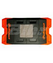Tapete plástico Bike Mat Polisport laranja