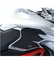 Set R&G RACING doorschijnende tankhandgreep (2-delig) MV Agusta Agusta Turismo Veloce 800