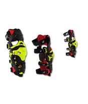 UFO Morpho Fit Knee Brace Red/Neon Yellow