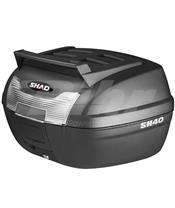 Baú SHAD SH40 CARGA preto/preto