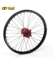 HAAN WHEELS A60 Komplett Vorderrad 21x1,60x36T Schwarz Felge/Rot Nabe/Silber Speichen/Silber Speichennippel