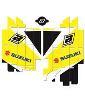 Kit déco de cache radiateur BLACKBIRD Dream Graphic 3 jaune Suzuki RM-Z450
